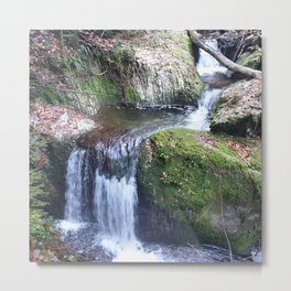 Nature Waterfall Breathtaking Metal Print