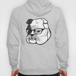 pitbull with glasses Hoody