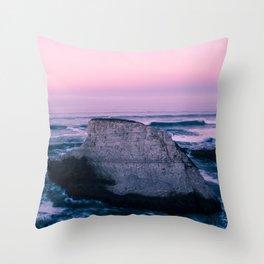 Rocks at Bonny Doon Beach Throw Pillow