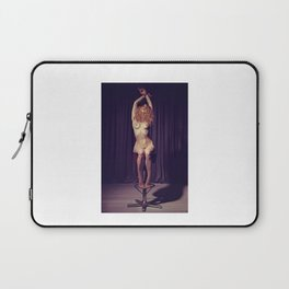 Tied up nude woman on a bar stool Laptop Sleeve