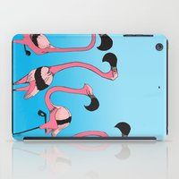 flamingos iPad Cases featuring Flamingos by Diana Dypvik