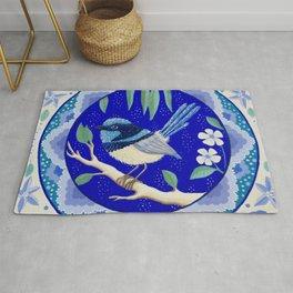 Blue Wren Beauty Rug