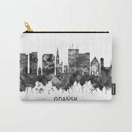 Gdansk Poland Skyline BW Carry-All Pouch