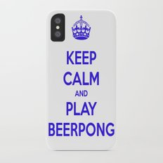 keep calm & play beerpong Slim Case iPhone X