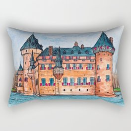 De Haar Castle Rectangular Pillow