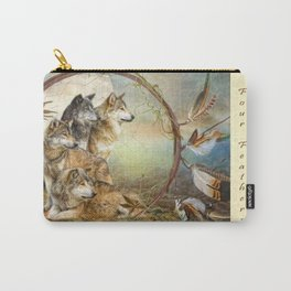 Four Feathers Carry-All Pouch