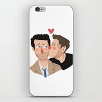 destiel iPhone & iPod Skins featuring Destiel kisses by Mack Robles
