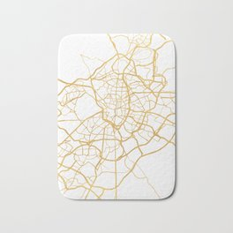 MADRID SPAIN CITY STREET MAP ART Bath Mat