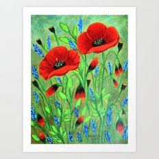 Poppies for you Art Print