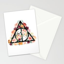 Watercolor Deathly Hallows Stationery Cards