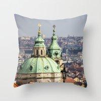prague Throw Pillows featuring Prague by Veronika