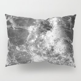Ocean Glow - Black and White Nature Photography Pillow Sham