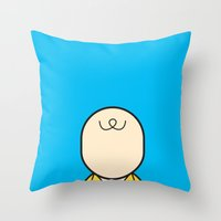 charlie brown Throw Pillows featuring Charlie by Ale Giorgini