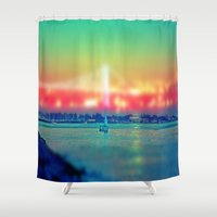 sailboat Shower Curtains featuring Sailboat by Ekrem Emre Ünlü