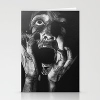 scream Stationery Cards featuring Scream by OShelby ART