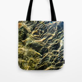 Ripples on River Rocks Tote Bag