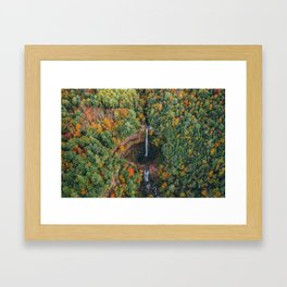 Kaaterskill Falls from Above, Peak Color Framed Art Print