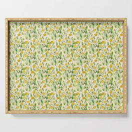 Yellow Buttercups Serving Tray