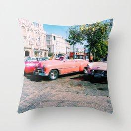 Cuban Taxis Throw Pillow