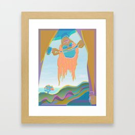 Long Hair and Hat When I was Young Framed Art Print