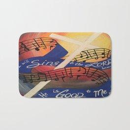 Sing Music Cross Bath Mat