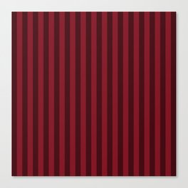 Burgundy Red Stripes Pattern Canvas Print