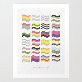 LGBTQ+ flags Art Print