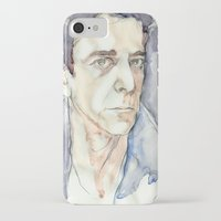 lou reed iPhone & iPod Cases featuring Lou Reed by Germania Marquez