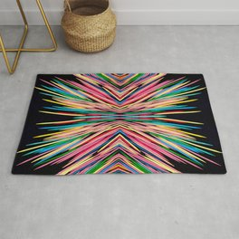 Toothpick Fusion Abstract Pattern Landscape Rug
