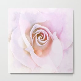 Delicate Pink Rose Abstract Metal Print