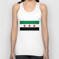 "islam Tank Tops featuring Syrian ""independence flag""  High quality authentic color and scale version by Bruce Stanfield"