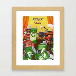 Rock & cheers Framed Art Print