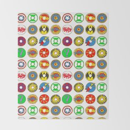 Superhero Donuts Throw Blanket