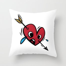 """Funny heart"" / Sixth Throw Pillow"