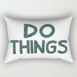 Do Things Rectangular Pillow