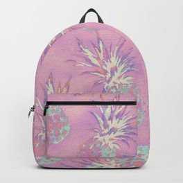 Pink Pineapple Pattern Backpack