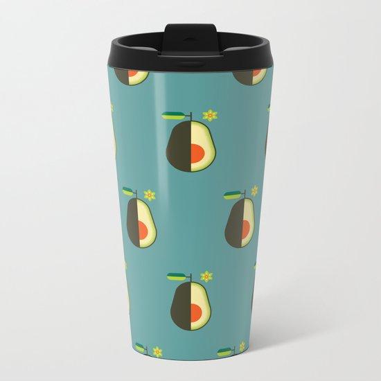 Fruit: Avocado Metal Travel Mug