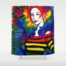 Ithelda (Rainbow Self-Portrait) Shower Curtain