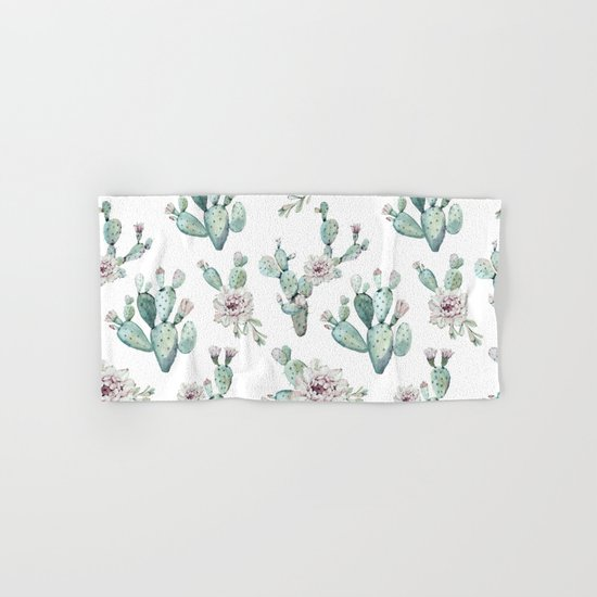 Who Sells Cannon Bath Towels: Cactus Pretty Pink + Green Hand & Bath Towel By Nature