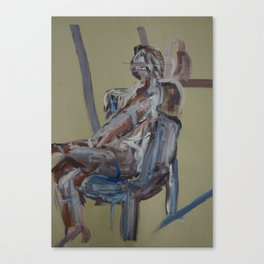 Thermal (Seated Nude) Canvas Print