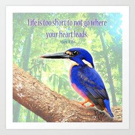 "Posh Parrot ""Life is too short"" Art Print"