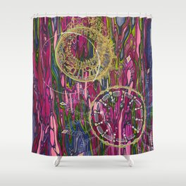 The Velocity of the Venom Antidote (Aligning Forces) Shower Curtain