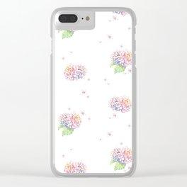 Dreamy Hydrangea Clear iPhone Case