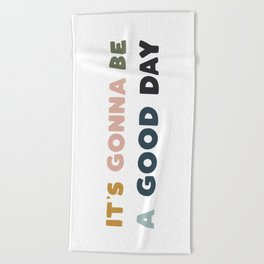 Have A Good Day - Retro Rainbow Beach Towel