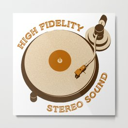 High Fidelity - Stereo Sound Metal Print