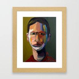 Colorful man Framed Art Print