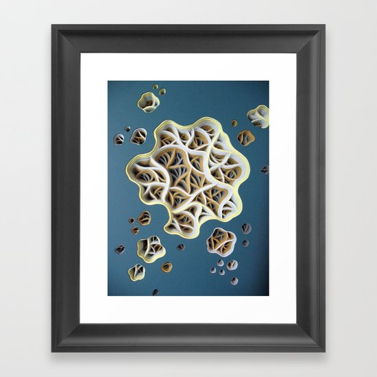 Drag-a-Diddle Cirrhosis Detail Framed Art Print