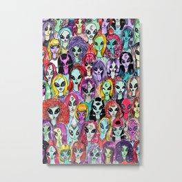 80's alien babes Metal Print