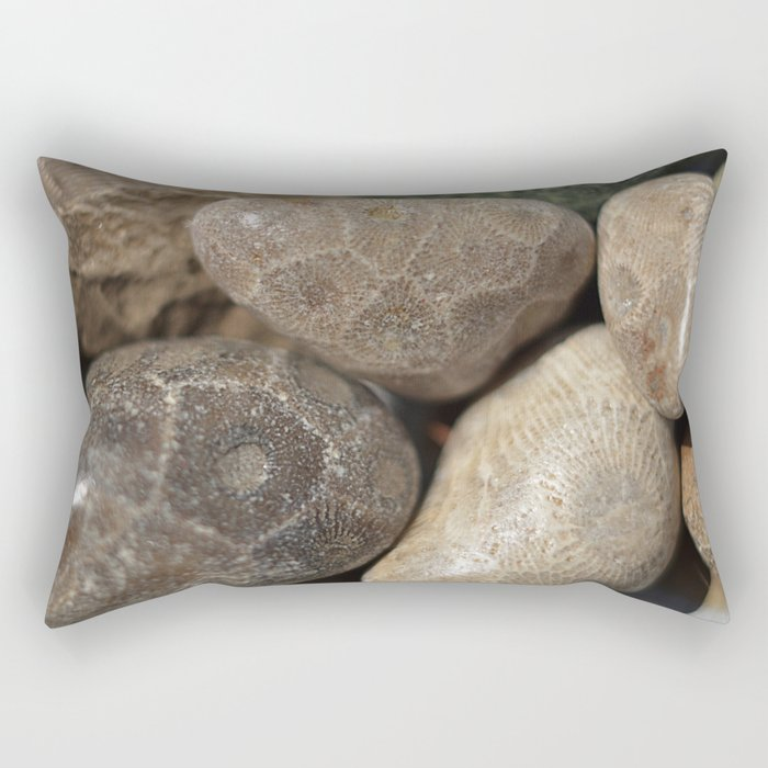 Petoskey Stones Rectangular Pillow