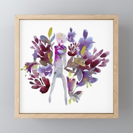 Autumn Lady Framed Mini Art Print